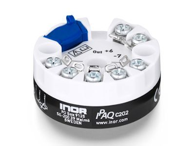 IPAQ C202 Programmable 2-wire transmitter dedicated for Pt100 sensors - Inor