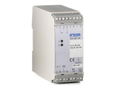 DA561 Isolation transmitter for mA/V signals with 2-wire transmitter supply - Inor
