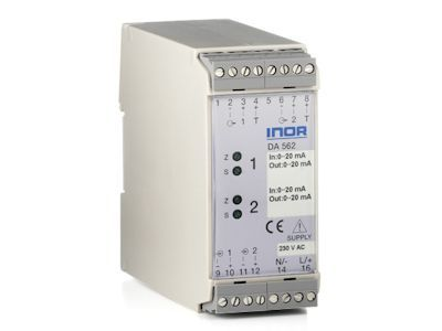 DA562 Dual Channel Isolation Transmitter for mA/V Signals - Inor