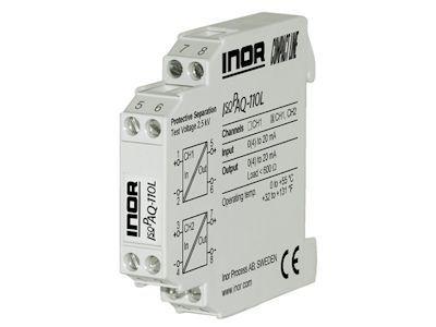 IsoPAQ-110L 1- & 2-channel loop powered isolators for 0(4)-20 mA signals - Inor