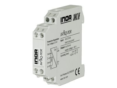 IsoPAQ-110R Transmitter repeater for powering and isolation of 2-wire transmitters - Inor