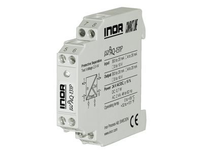 IsoPAQ-131P Isolation transmitter for unipolar mA/V signals with fixed ranges - Inor