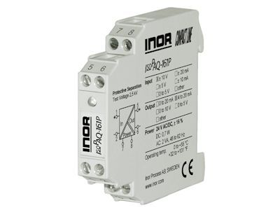 IsoPAQ-161P Isolation transmitter for bipolar and unipolar mA/V signals with fixed ranges - Inor